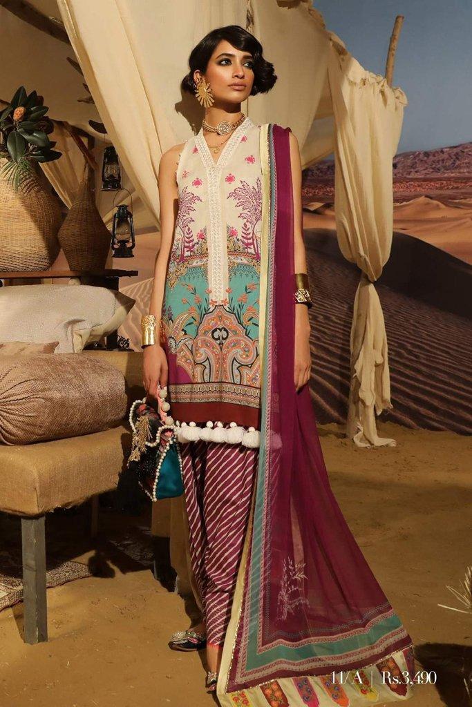 Sana Safinaz Mahay Lawn Collection – 11A