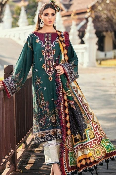 Baroque premium lawn eid collection 2020 bq20e 03 green valley 1