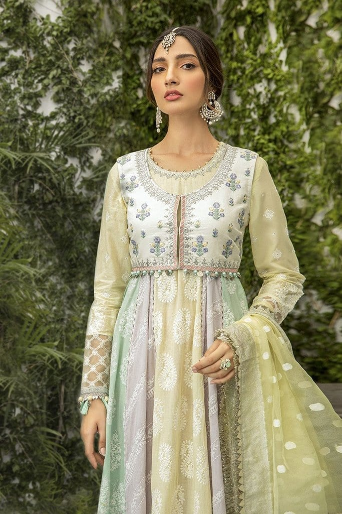 Maria B Embroidered EL-20-05-Lemon, Lilac and Mint - Festive Collection