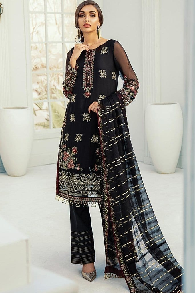 Janaan unstitched luxury chiffon collection 2020 by xenia formals xe20j 02 benafsha 1