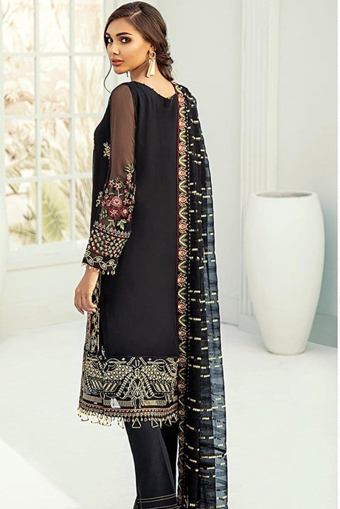 Janaan unstitched luxury chiffon collection 2020 by xenia formals xe20j 02 benafsha 2