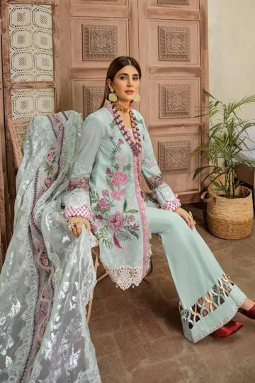 Maryam hussain festive lawn collection 2020 mrh20f d 02 french knot 3