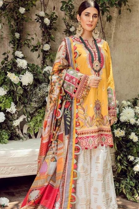 Maryam hussain festive lawn collection 2020 mrh20f d 05 kesar 1