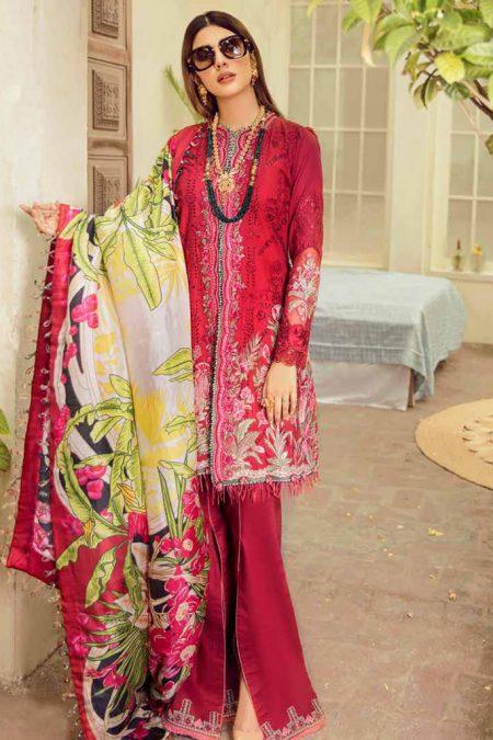 Maryam hussain festive lawn collection 2020 mrh20f d 06 gulab 1