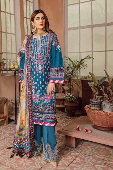 Maryam hussain festive lawn collection 2020 mrh20f d 07 sehar 1