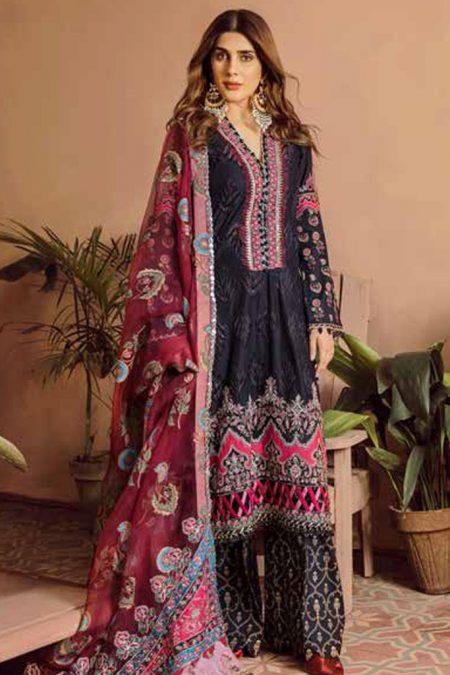 Maryam hussain festive lawn collection 2020 mrh20f d 08 midnight 1