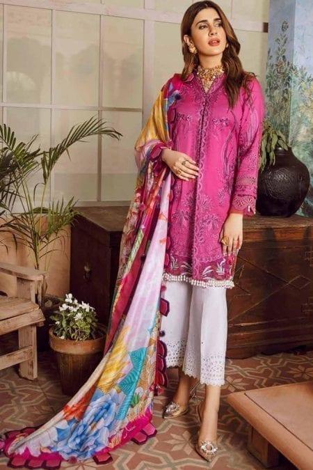 Maryam hussain festive lawn collection 2020 mrh20f d 10 fushia 1