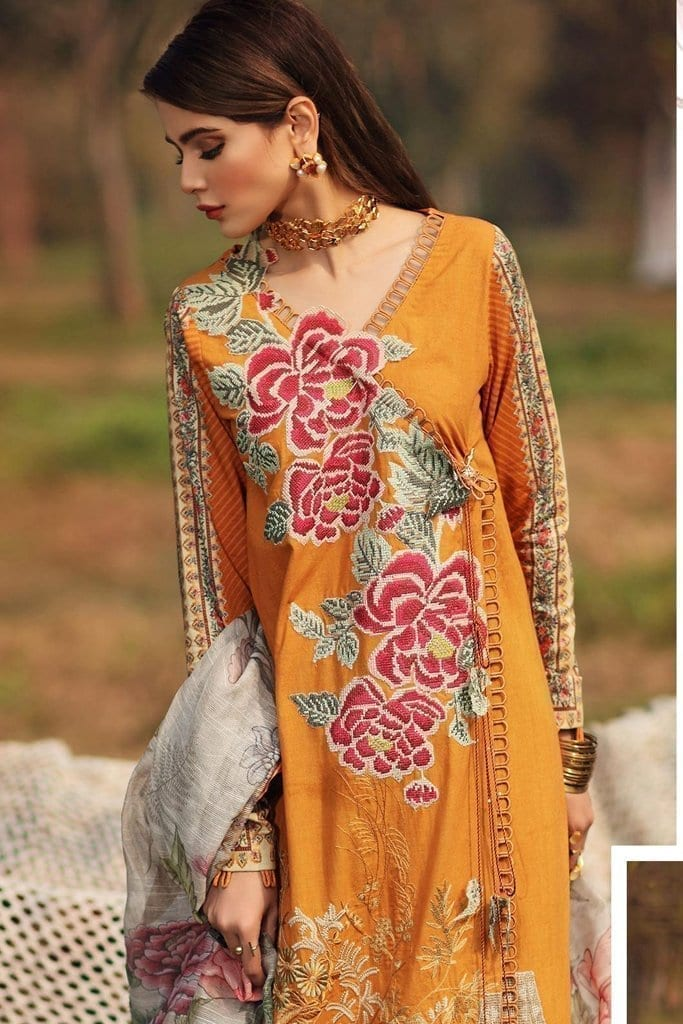 Shiza hassan luxury lawn 2020 collection sh20l 2 b secret garden 1