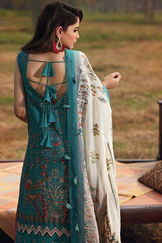 Shiza hassan luxury lawn 2020 collection sh20l 7 a soft spring 2