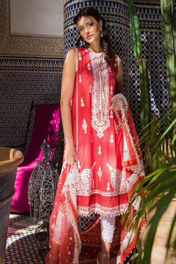 Sobia nazir luxury lawn 2020 collection l20sn 11 a orange 1