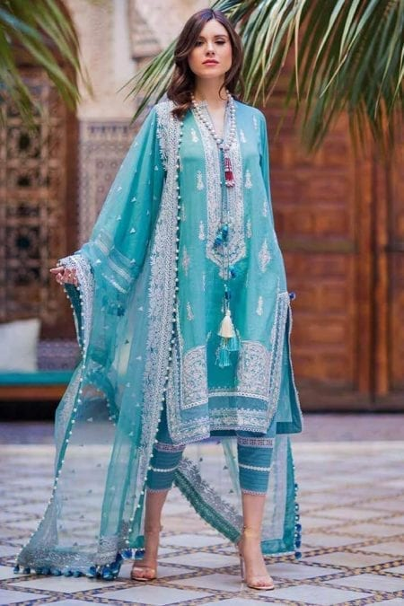 Sobia nazir luxury lawn 2020 collection l20sn 11 b turcoise 1