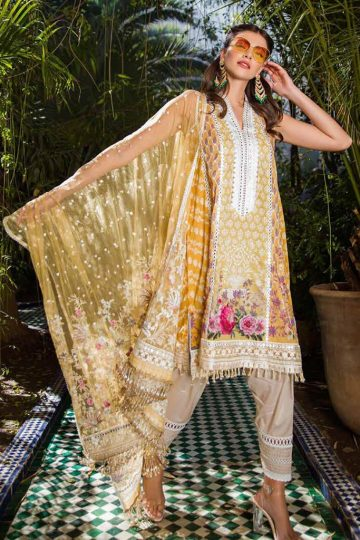 Sobia nazir luxury lawn 2020 collection l20sn 13 a yellow 1
