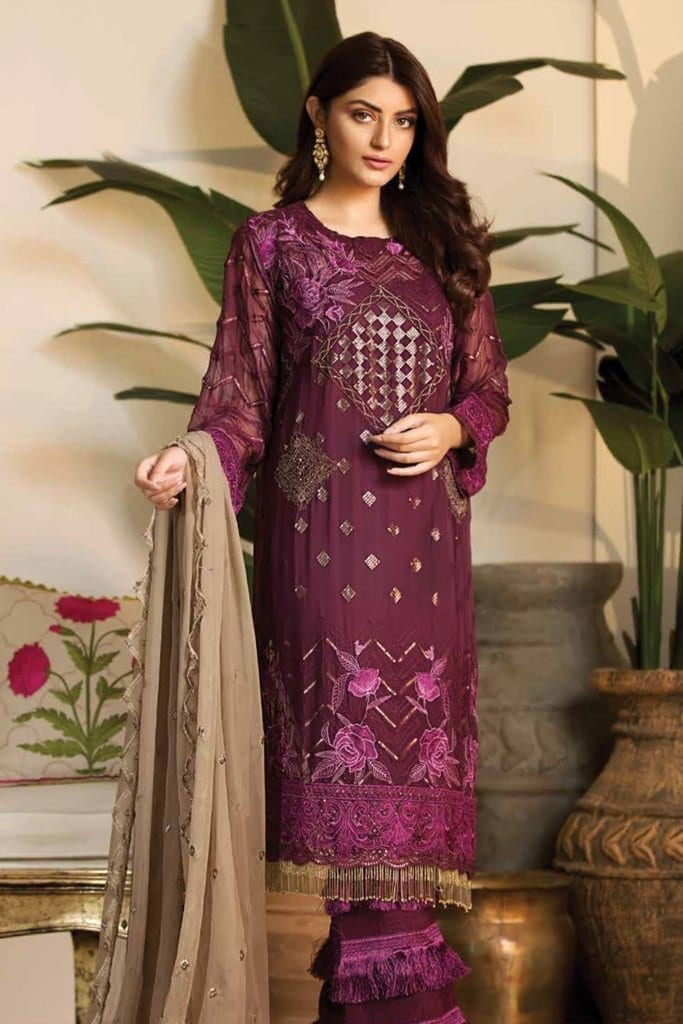 Noor jahan exclusive embroidered chiffon19 d3 a