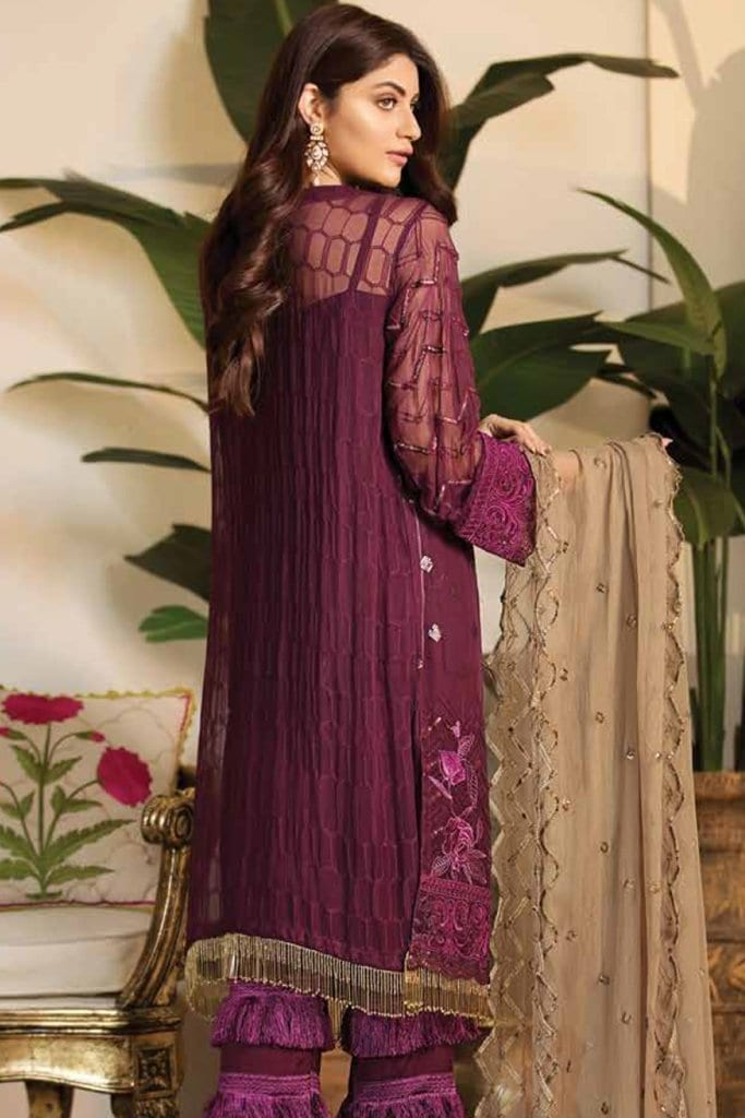 Noor jahan exclusive embroidered chiffon19 d3 b