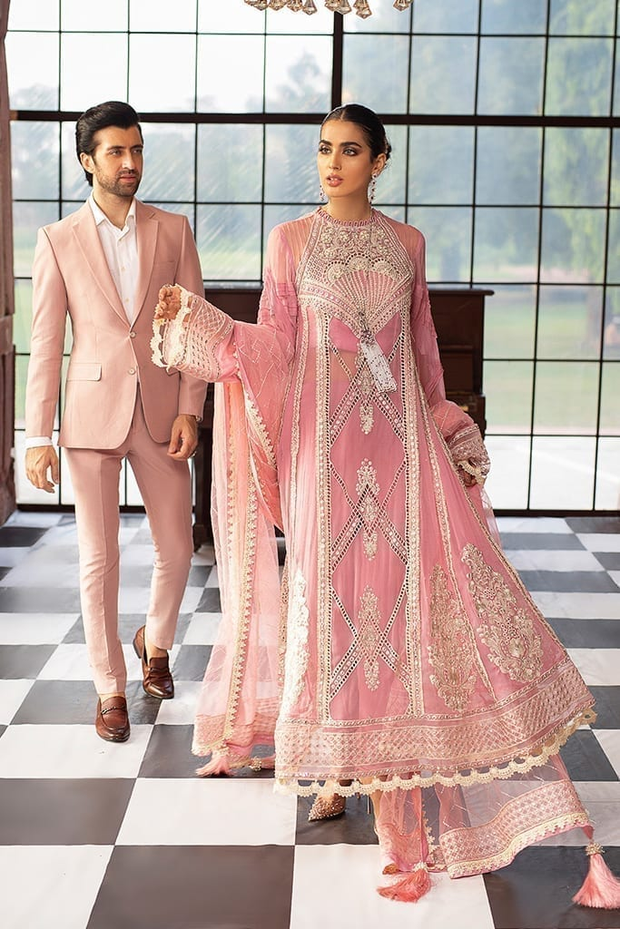 MUSHQ | Monsoon Affair Luxury STITCHED collection*20 | ROSEATE