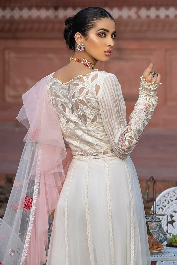 MUSHQ | Monsoon Affair Luxury STITCHED collection*20 | WHITE DOVE