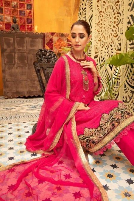 KHOOBSURAT | Luxury Karandi Stitched Schiffli Collection*20 | KL 02