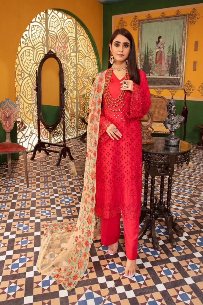KHOOBSURAT   Karandi Stitched Schiffli Collection*20   KL 08