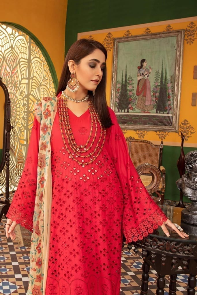 KHOOBSURAT | Karandi Stitched Schiffli Collection*20 | KL 08