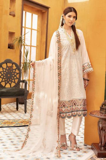 KHOOBSURAT | Karandi Stitched Schiffli Collection*20 | NC 09