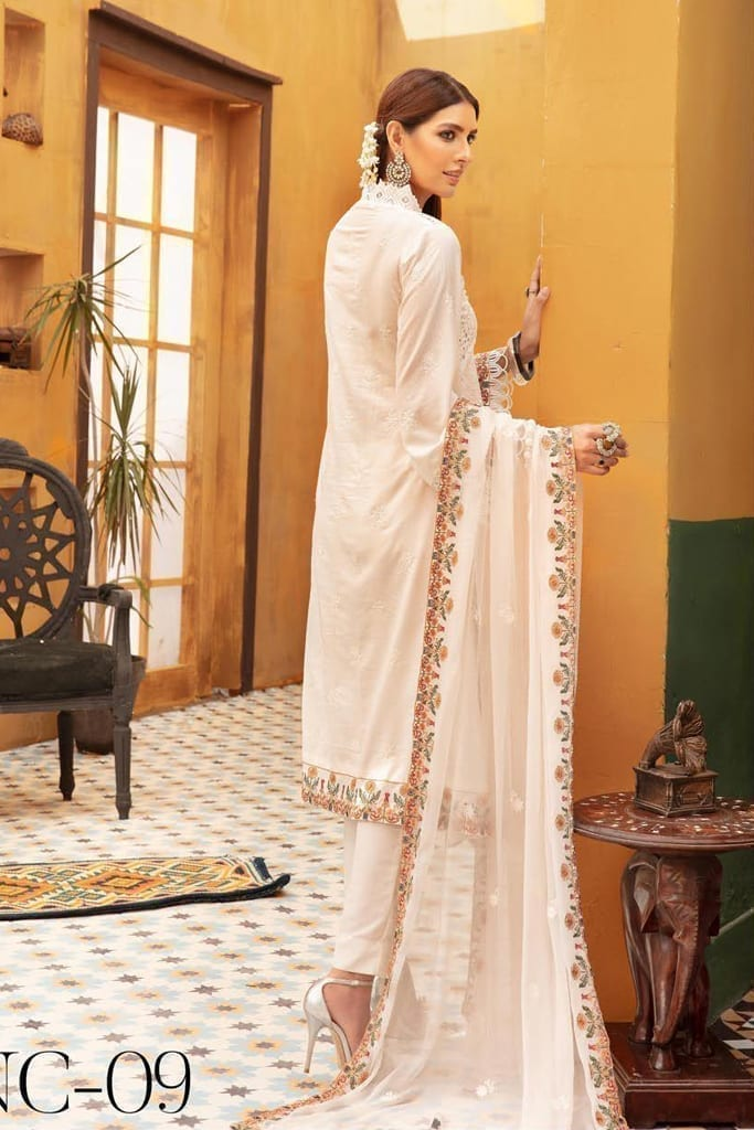 KHOOBSURAT   Karandi Stitched Schiffli Collection*20   NC 09