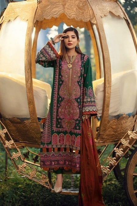 MARYAM HUSSAIN | WINTER SHAWL COLLECTION '20 | Emrald