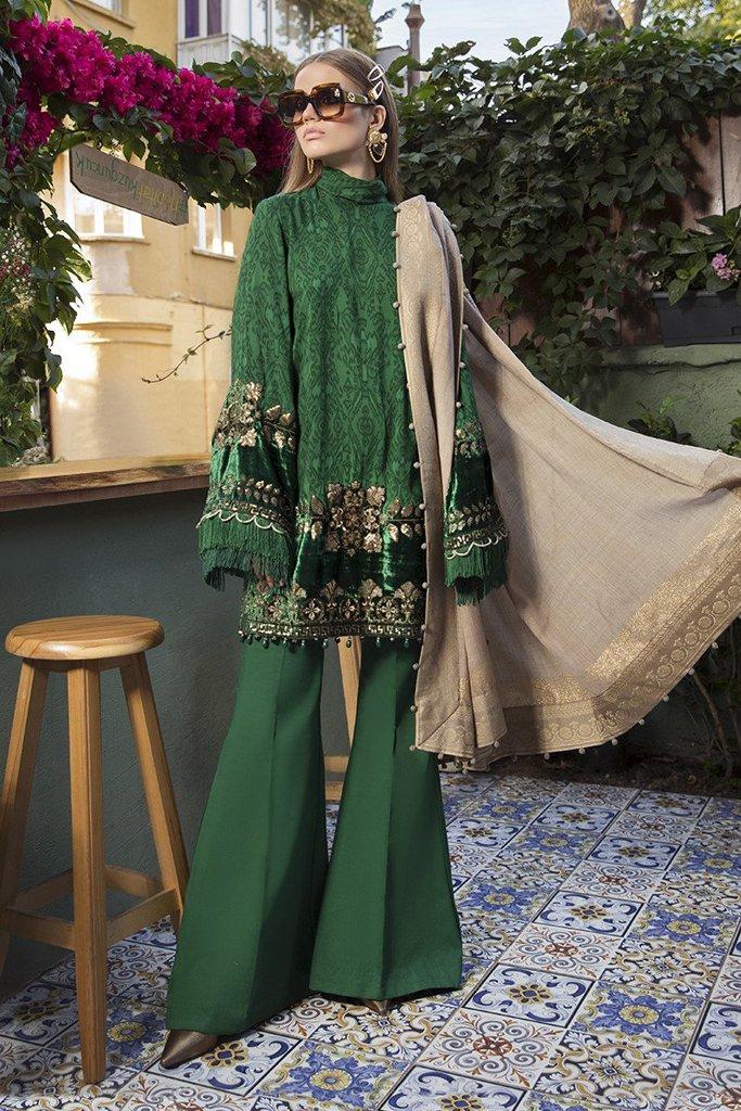 MARIA B | LINEN | WINTER*20 | DL-804-Emerald Green
