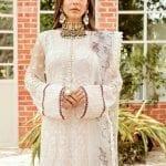 AFROZEH | Chiffon Collection | WHITE FLORENTINE