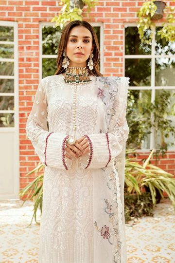 AFROZEH | Chiffon Collection | WHITE FLORENTINE
