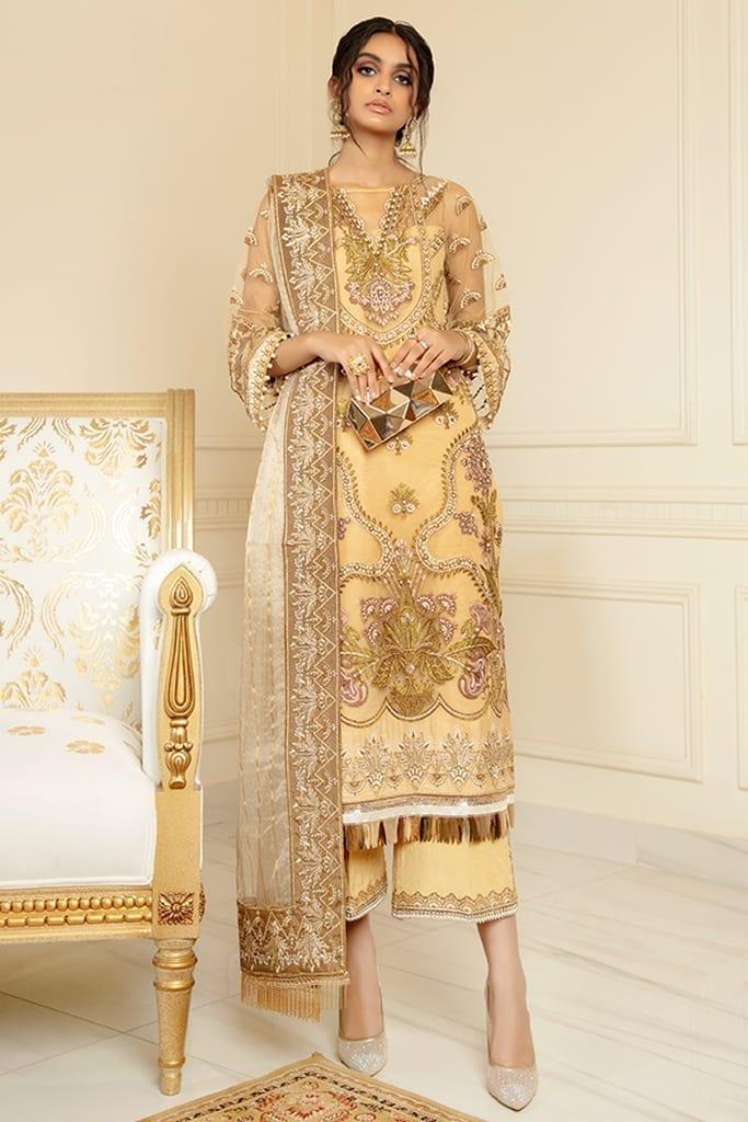 IMROZIA PREMIUM | CHIFFON Formals Collection | GOLD MODE | S-1023