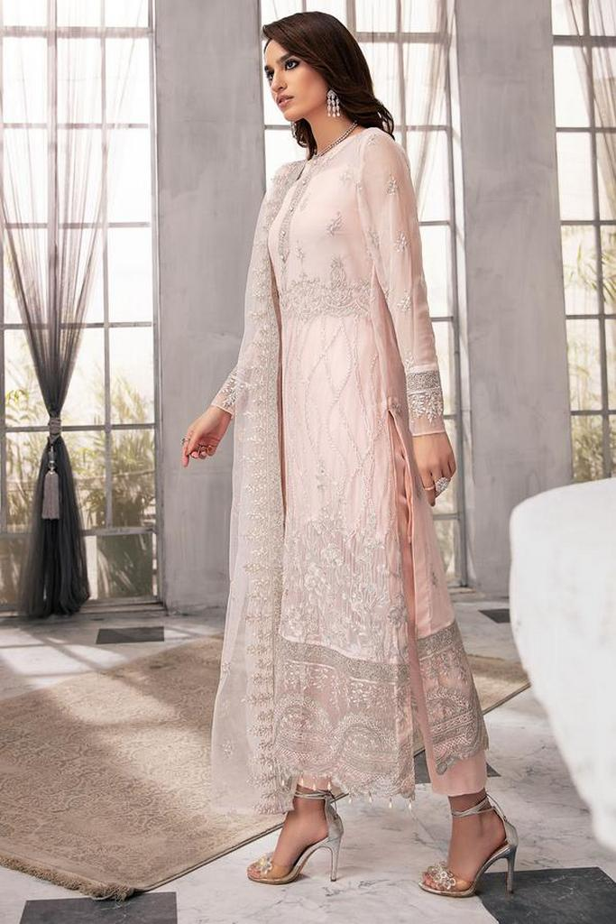 MOTIFZ   EMBROIDERED BEMBERG CHIFFON Collection   OLD FLAME-2647