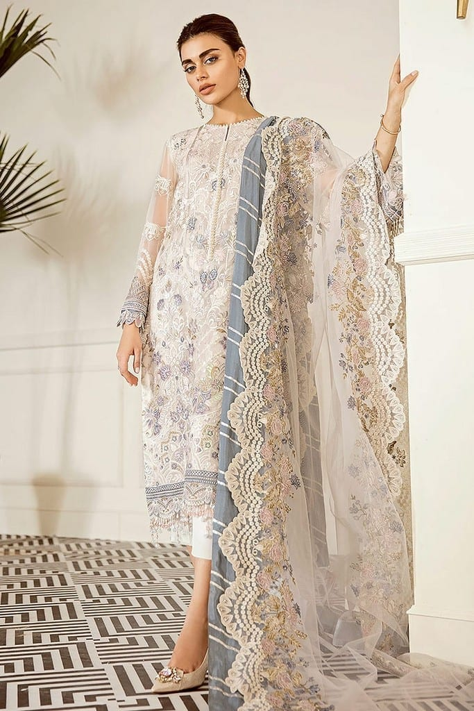 BAROQUE | EMBROIDERED CHIFFON | Collection | PEWTER