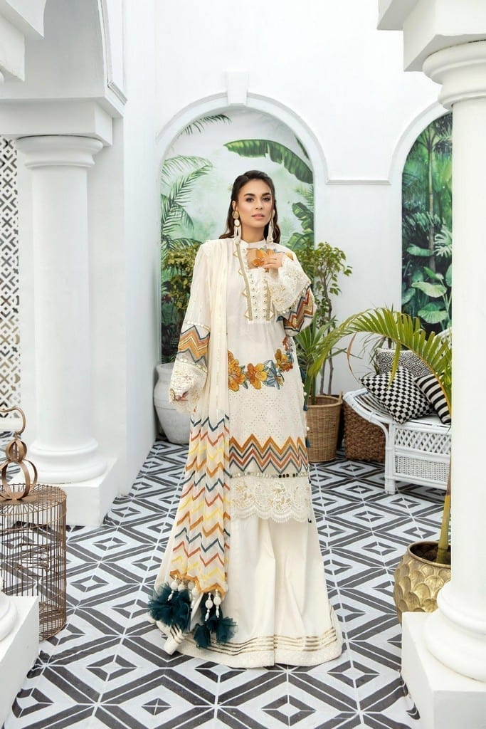 ADANS LIBAS | SHIFFLI EMBROIDERED SUMMER Collection | CREAMED BUTTER