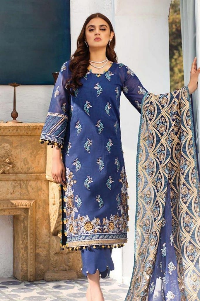 SERENE NORANG | PREMIUM EMBROIDERED Collection | DHANAK | D-04