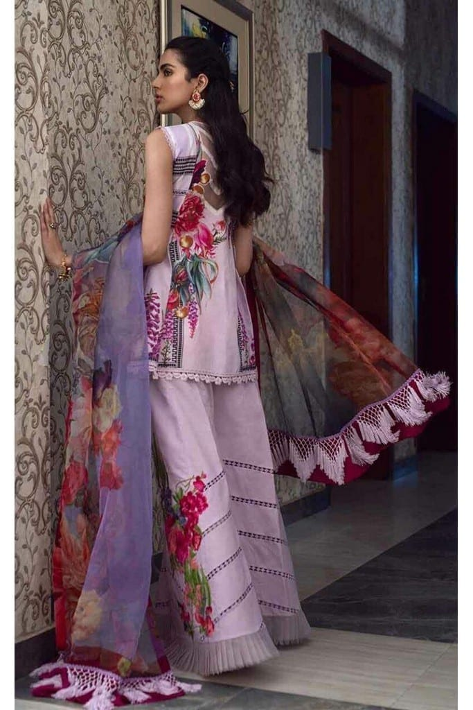ASIFA N NABEEL   LUXURY LAWN Collection   1-L LAVENDER