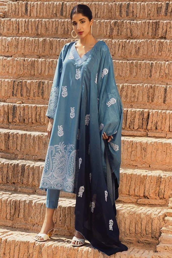 TENA DURRANI   Embroidered Lawn Suits   Aegean