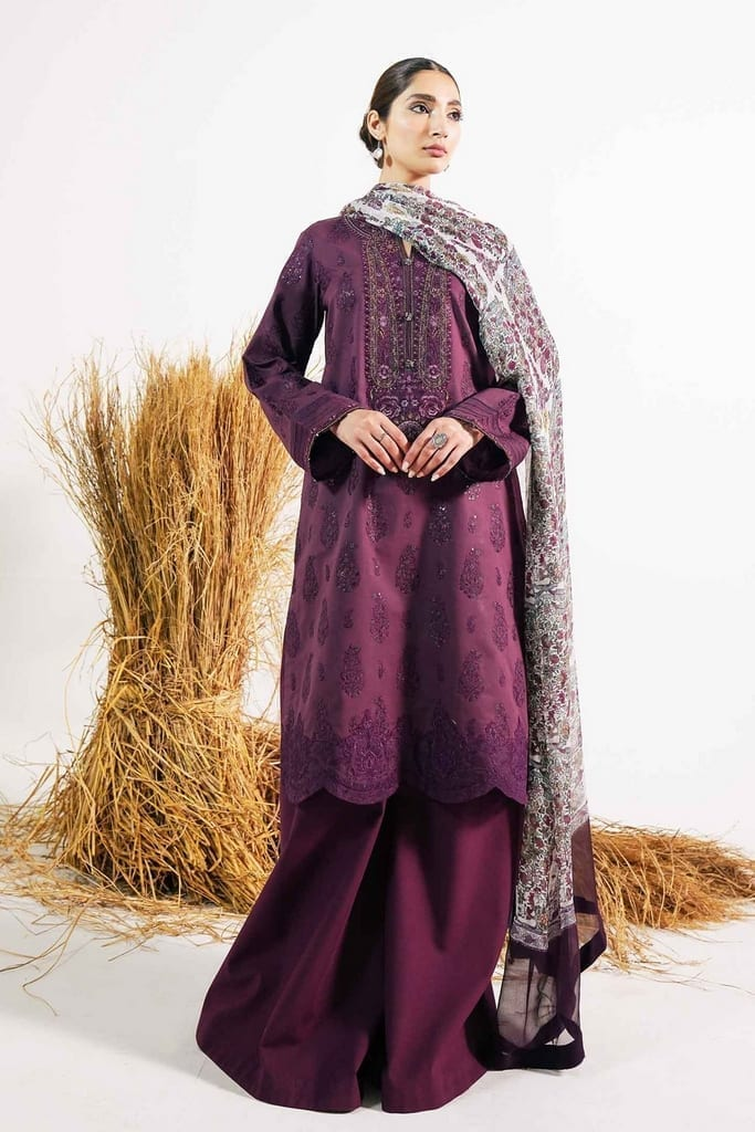 ZARA SHAHJAHAN   Embroidered Lawn Suits   ARJUMAND-A