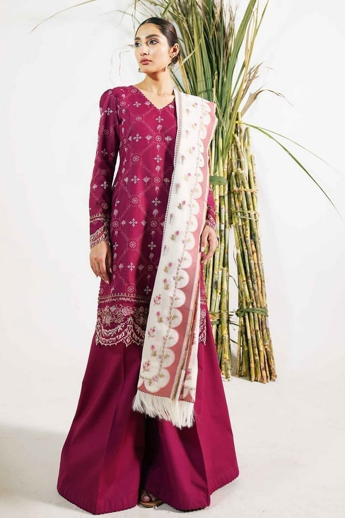 ZARA SHAJAHAN | Embroidered Lawn Suits | ZS21L 05 Fajal-A