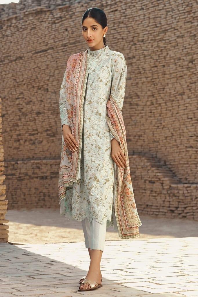 TENA DURRANI   Embroidered Lawn Suits   Gardenia