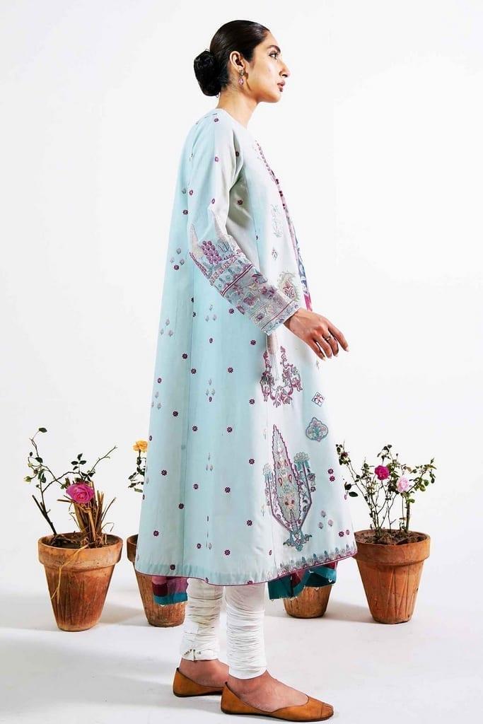 ZARA SHAJAHAN | Embroidered Lawn Suits | ZS21L 24 Khushala-B
