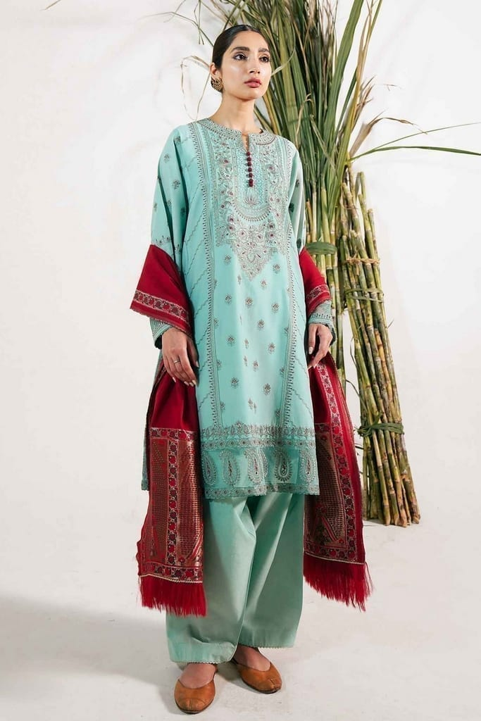 ZARA SHAJAHAN | Embroidered Lawn Suits |  ZS21L 29 Noori-A