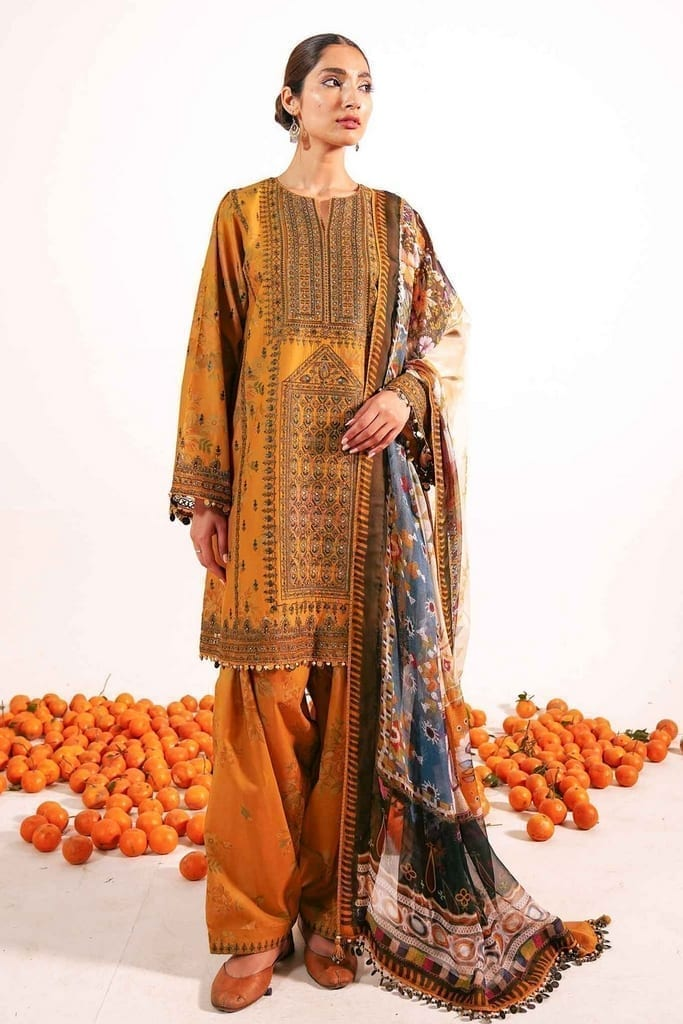 ZARA SHAHJAHAN | Embroidered Lawn Suits | SHIREEN-B