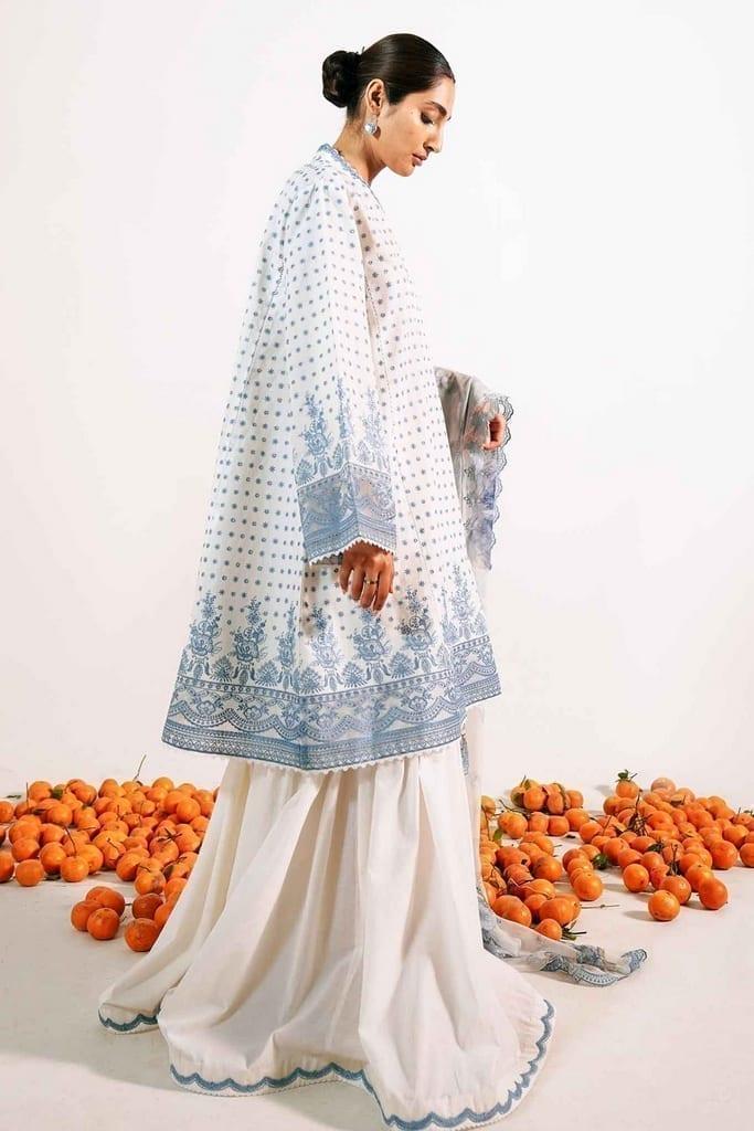 ZARA SHAJAHAN   Embroidered Lawn Suits   ZS21L 13 Zubaida-A