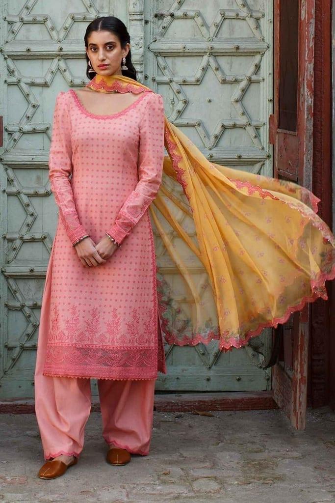ZARA SHAJAHAN   Embroidered Lawn Suits   ZS21L 14 Zubaida-B