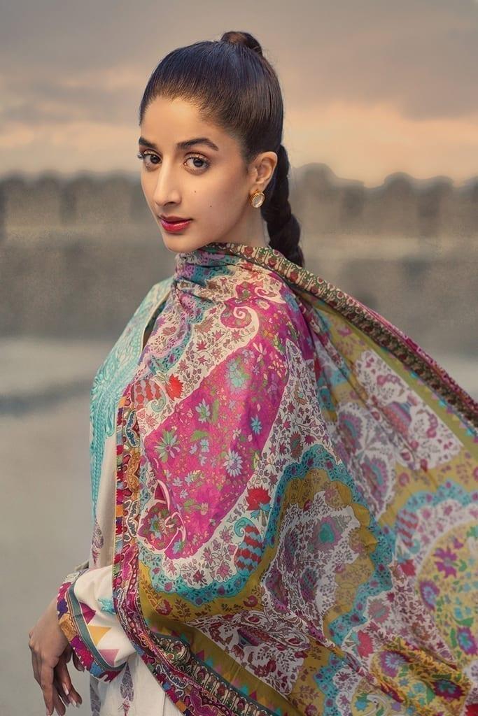 TENA DURRANI | Embroidered Lawn Suits | Feroza
