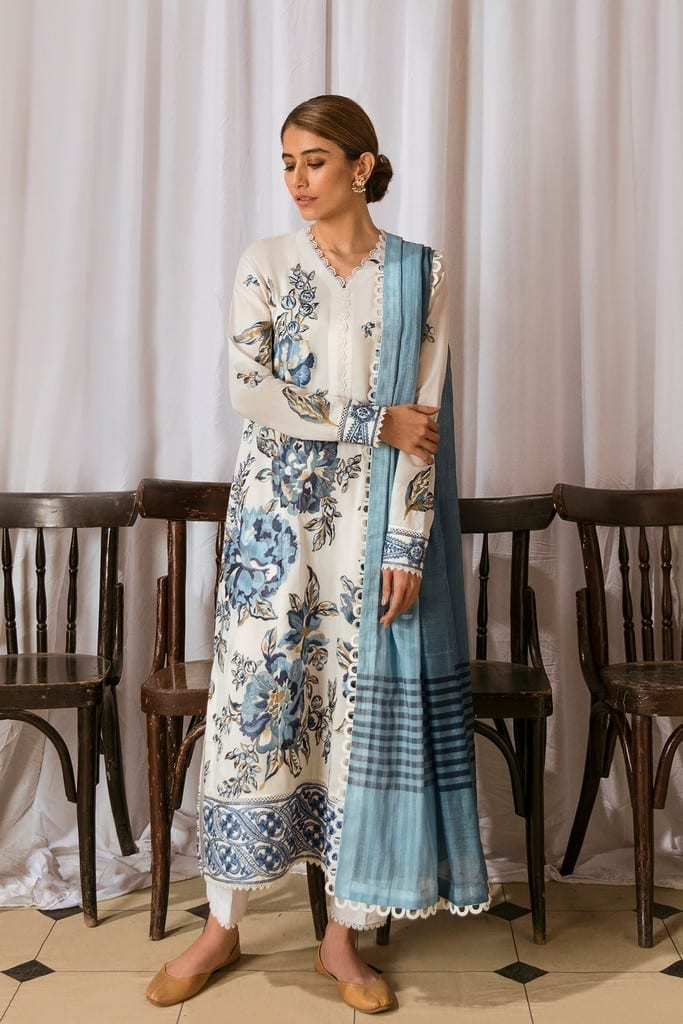 ZAHA LAWN | Embroidered Lawn Suits | AREZU (ZL21-04 A)