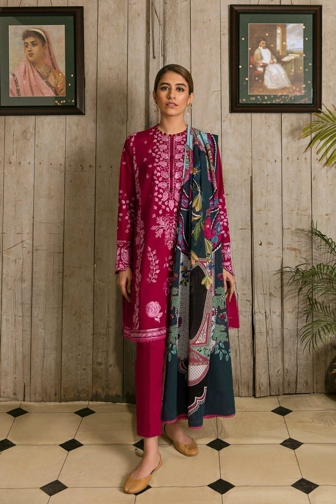 ZAHA LAWN | Embroidered Lawn Suits | LUKHAN (ZL21-12 A)