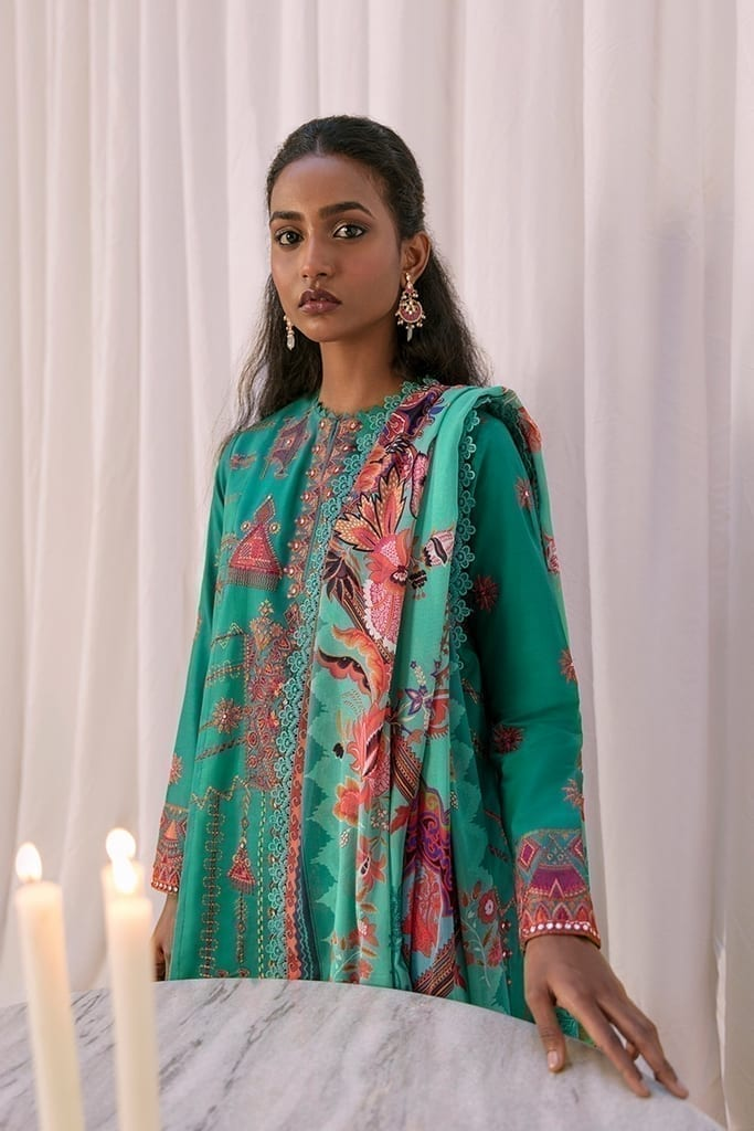 ZAHA LAWN | Embroidered Lawn Suits | NAHID (ZL21-10 B)