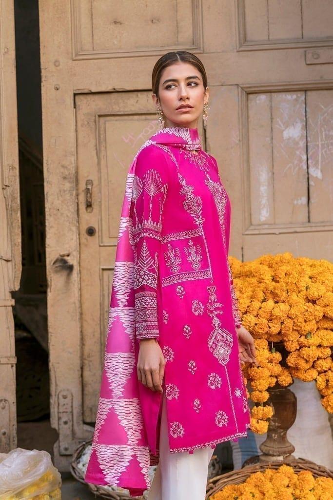 ZAHA LAWN | Embroidered Lawn Suits | ZEBA (ZL21-05 B)