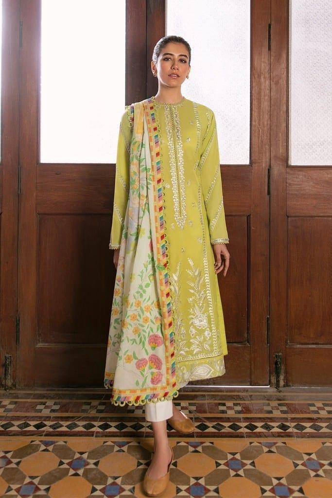 ZAHA LAWN | Embroidered Lawn Suits | SOSAN (ZL21-07 B)